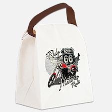 Cute Route 66 Canvas Lunch Bag