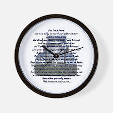 Dear God in Heaven Wall Clock
