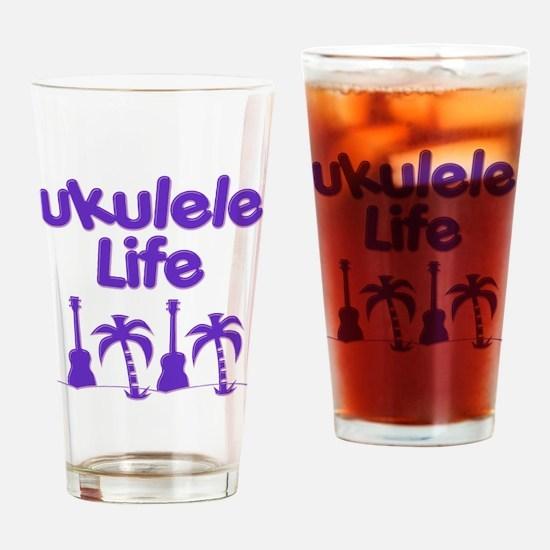 Purple Ukulele Drinking Glass