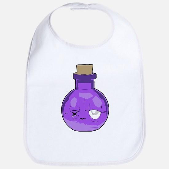 purple bottle Bib