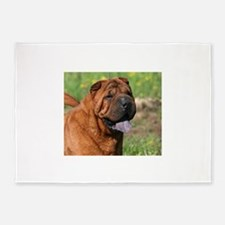 chinese shar pei 5'x7'Area Rug
