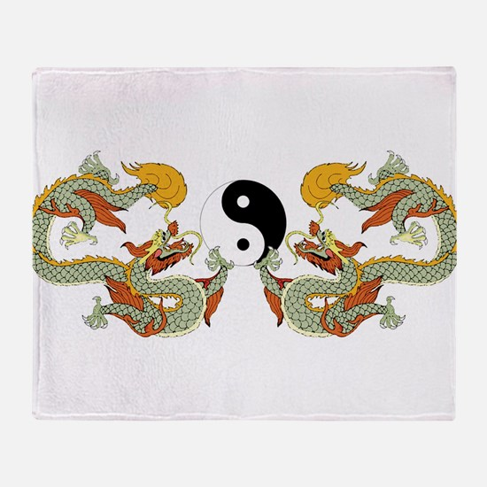 10xyingyangdragons.png Throw Blanket