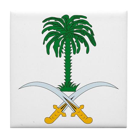 Saudi Arabia Coat of Arms Tile Coaster