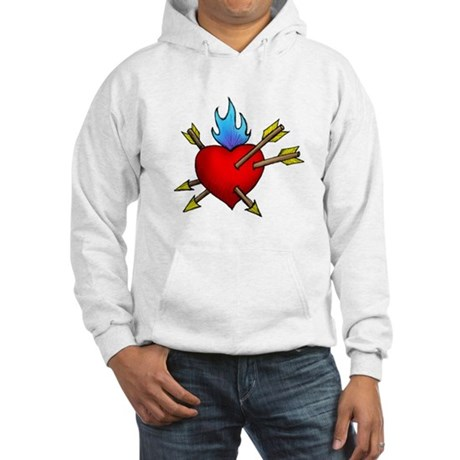 St. Sebastian's Heart Hooded Sweatshirt