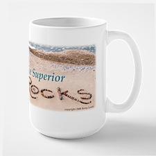 """Lake Superior ROCKS!"" Mugs"