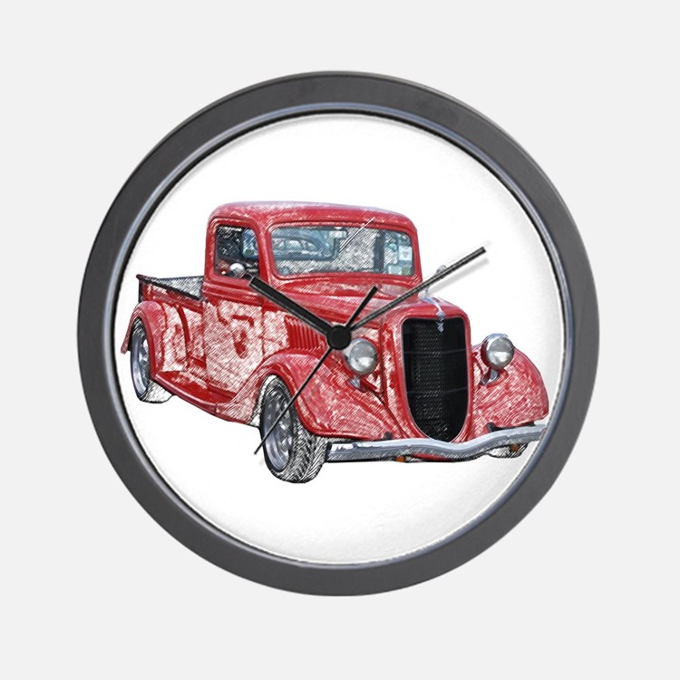 1935 Ford Pickup Truck Wall Clock