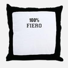 100% FIERO Throw Pillow