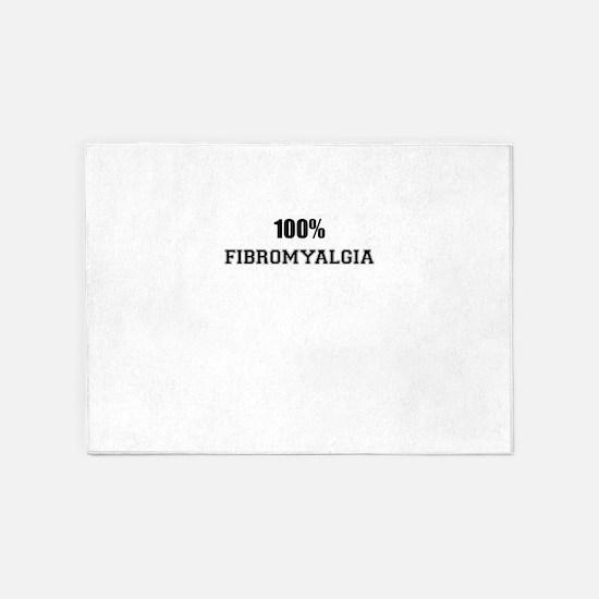 100% FIBROMYALGIA 5'x7'Area Rug