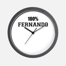 100% FERNANDO Wall Clock
