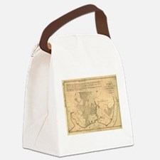 Vintage Map of The Mount Vernon P Canvas Lunch Bag