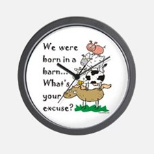Born in a Barn Wall Clock