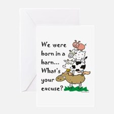 Born in a Barn Greeting Card