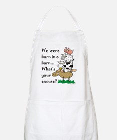 Born in a Barn BBQ Apron