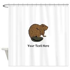 Brown Beaver (Custom) Shower Curtain