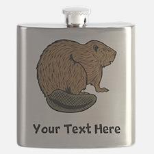 Brown Beaver (Custom) Flask