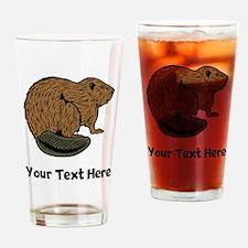 Brown Beaver (Custom) Drinking Glass