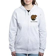Brown Beaver (Custom) Zip Hoodie