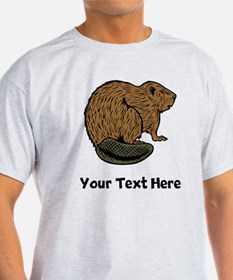 Brown Beaver (Custom) T-Shirt