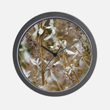 White Laced Leaves Wall Clock