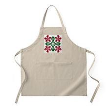 Plumeria Quilt Christmas BBQ Apron