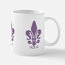 NOLA Purple Fleur Mug