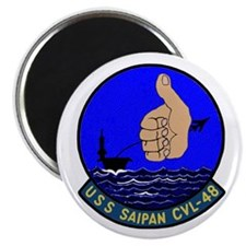 """USS Saipan (CVL 48) 2.25"""" Magnet (100 pack)"""