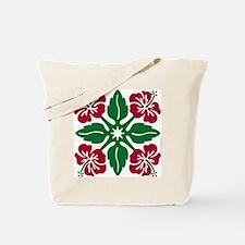 Hibiscus Quilt Tote Bag