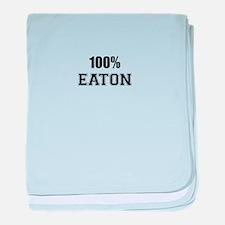 100% EATON baby blanket