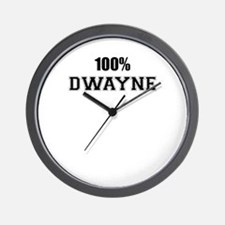 100% DWAYNE Wall Clock