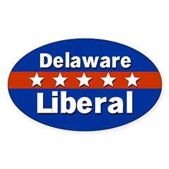 Delaware Liberal Oval Car Decal