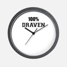 100% DRAVEN Wall Clock