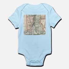 Vintage Map of Mobile Alabama (1891) Body Suit