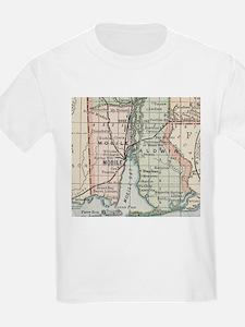 Vintage Map of Mobile Alabama (1891) T-Shirt