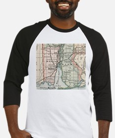 Vintage Map of Mobile Alabama (189 Baseball Jersey