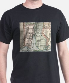 Vintage Map of Mobile Alabama (1891) T-Shirt