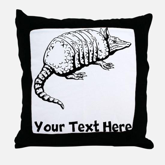 Armadillo (Custom) Throw Pillow