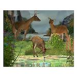 As the Deer 20x16 Poster Print