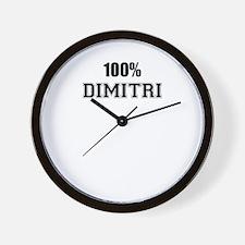 100% DIMITRI Wall Clock