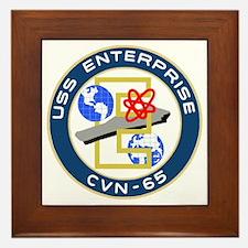 USS Enterprise (CVN 65) Framed Tile