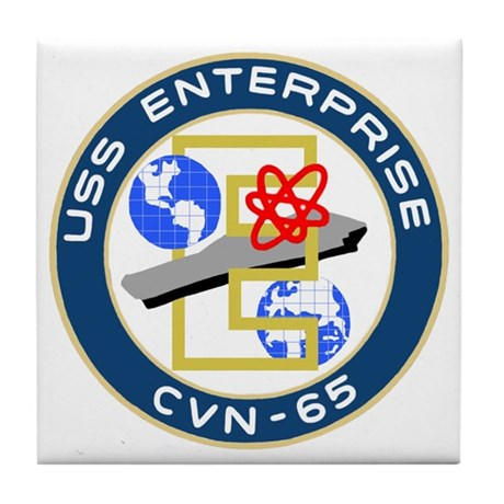USS Enterprise (CVN 65) Tile Coaster