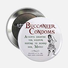 Buccaneer Brand Condoms Button
