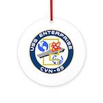 USS Enterprise (CVN 65) Ornament (Round)
