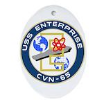 USS Enterprise (CVN 65) Oval Ornament