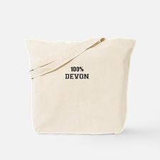 100% DEVON Tote Bag
