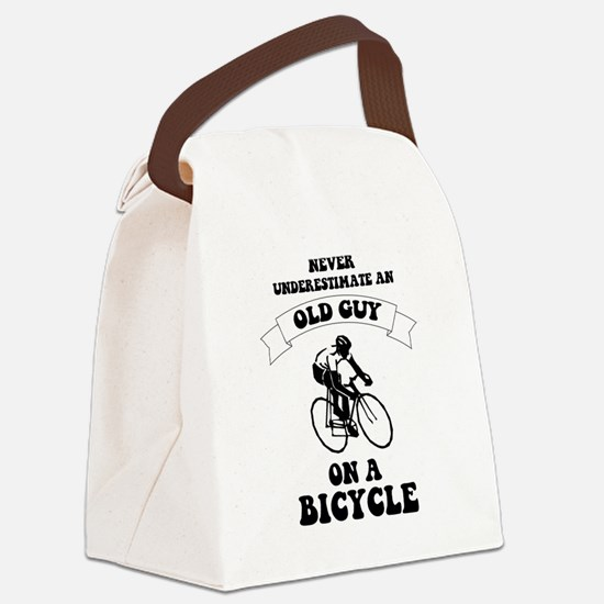 Funny Cyclist Canvas Lunch Bag