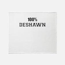 100% DESHAWN Throw Blanket