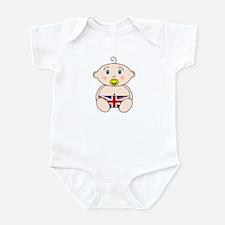 British Flag Nappy design Infant Bodysuit