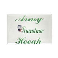 army grandma hooah Rectangle Magnet