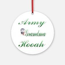 army grandma hooah Ornament (Round)