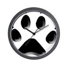Wolf Track 1 Wall Clock